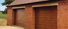 Oak Roller Shutter Garage Door